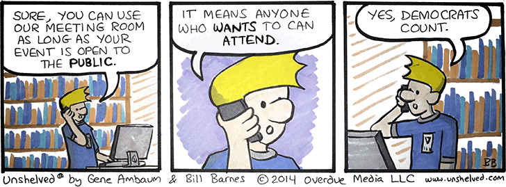 Unshelved comic strip for 3/17/2014