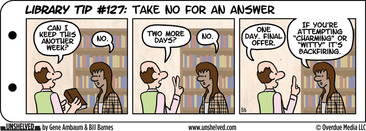Unshelved strip for 4/2/2014