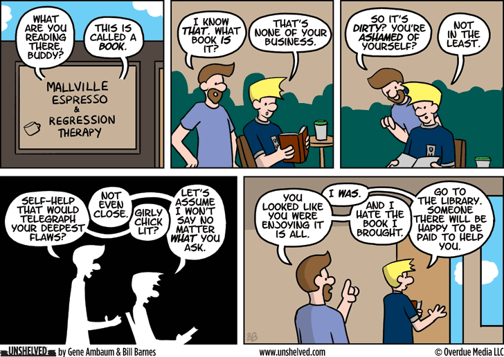 Unshelved comic strip for 4/7/2014