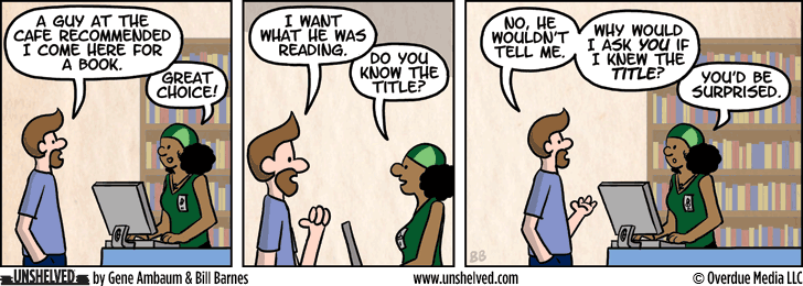Unshelved strip for 4/8/2014