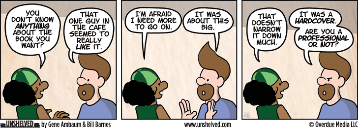 Unshelved comic strip for 4/9/2014