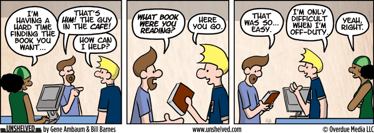 Unshelved comic strip for 4/10/2014