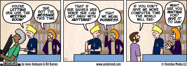 Unshelved comic strip for 4/17/2014