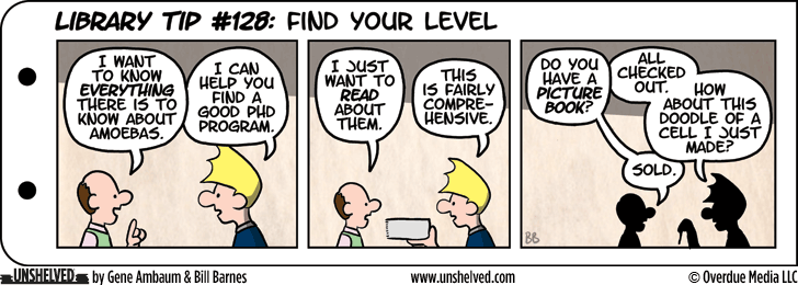 Unshelved comic strip for 4/21/2014