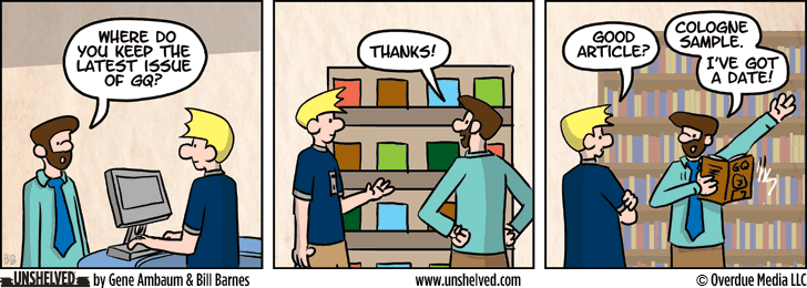 Unshelved comic strip for 4/23/2014