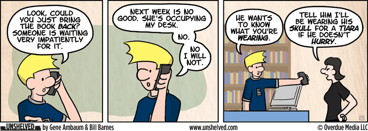 Unshelved comic strip for 5/7/2014