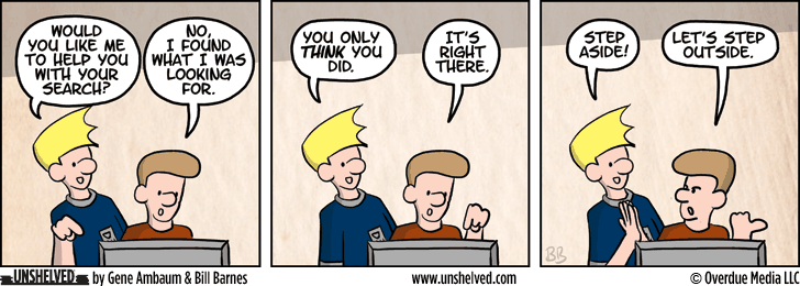 Unshelved comic strip for 5/28/2014
