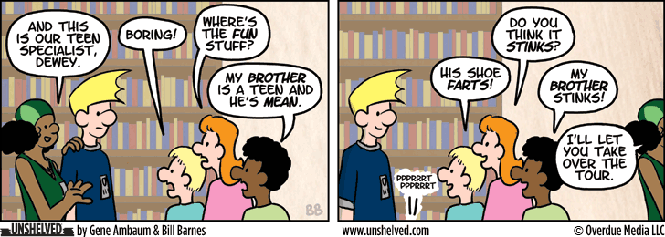Unshelved comic strip for 6/11/2014