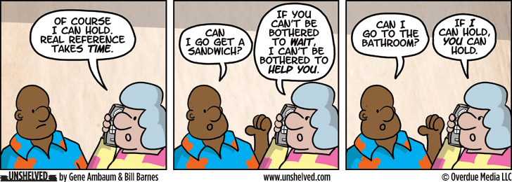 Unshelved comic strip for 7/1/2014