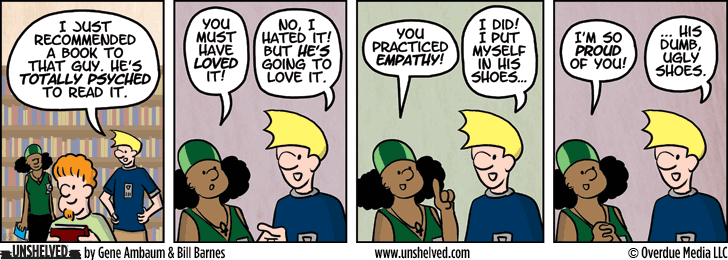 Unshelved comic strip for 7/7/2014