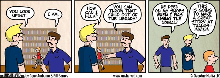 Unshelved comic strip for 7/8/2014