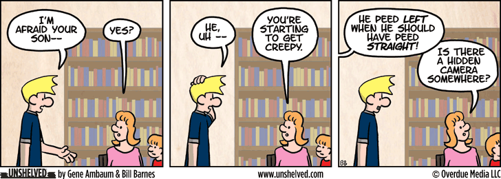 Unshelved comic strip for 7/9/2014