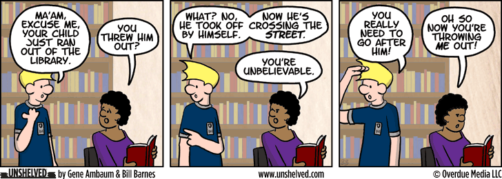 Unshelved comic strip for 7/14/2014