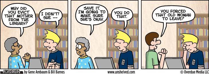Unshelved comic strip for 7/15/2014