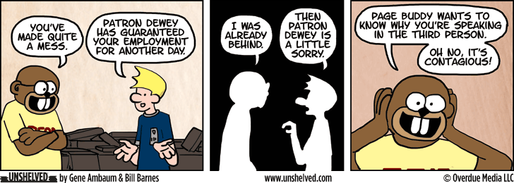 Unshelved comic strip for 8/6/2014