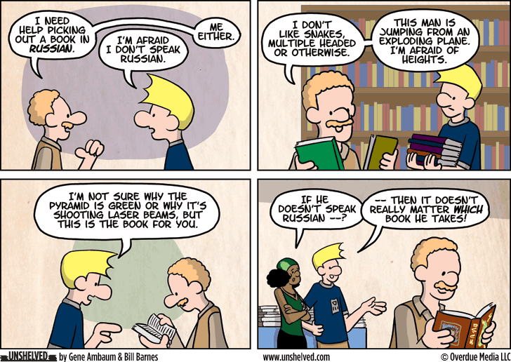 Unshelved comic strip for 9/23/2014