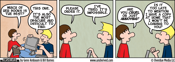 Unshelved comic strip for 9/25/2014