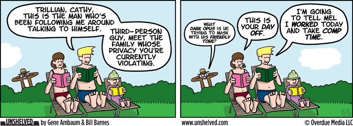 Unshelved comic strip for 10/8/2014