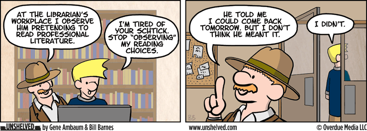 Unshelved comic strip for 10/9/2014
