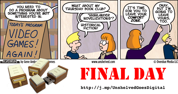 Unshelved comic strip for 10/27/2014