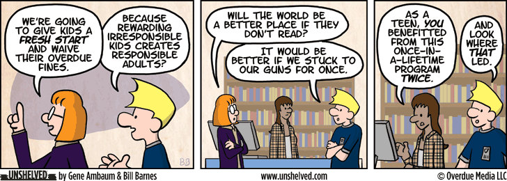 Unshelved comic strip for 11/11/2014