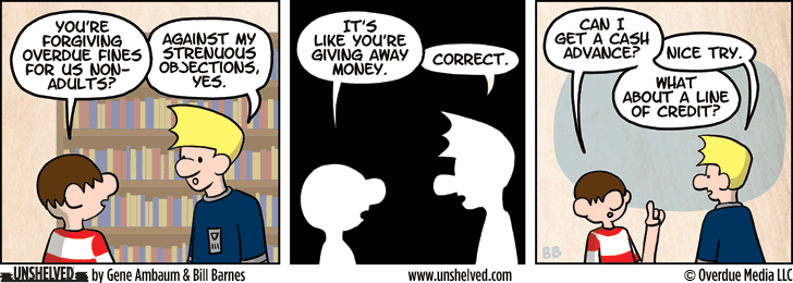 Unshelved comic strip for 11/13/2014