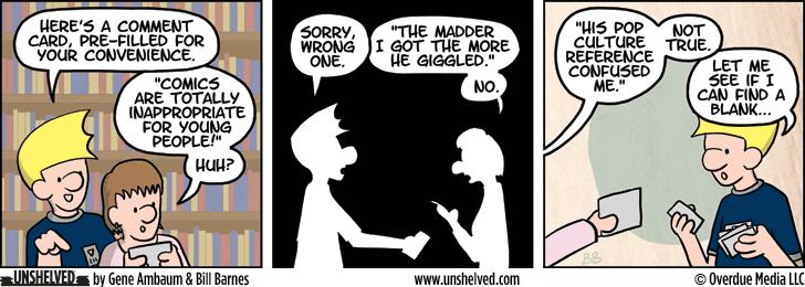 Unshelved comic strip for 12/2/2014