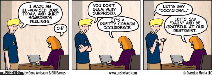Unshelved comic strip for 12/3/2014