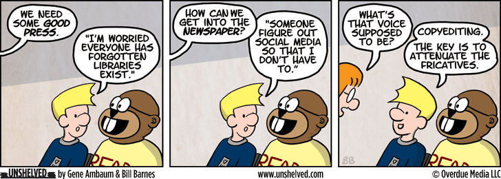 Unshelved comic strip for 1/5/2015
