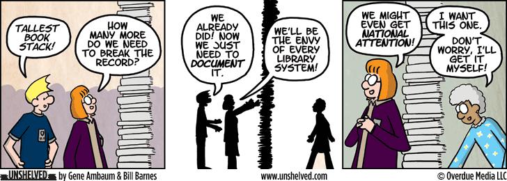 Unshelved comic strip for 1/7/2015
