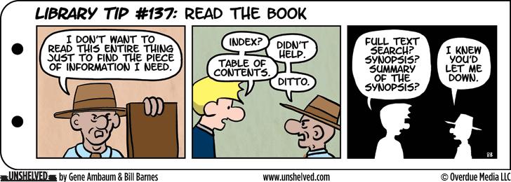 Unshelved comic strip for 1/20/2015