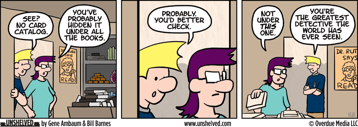 Unshelved comic strip for 2/4/2015