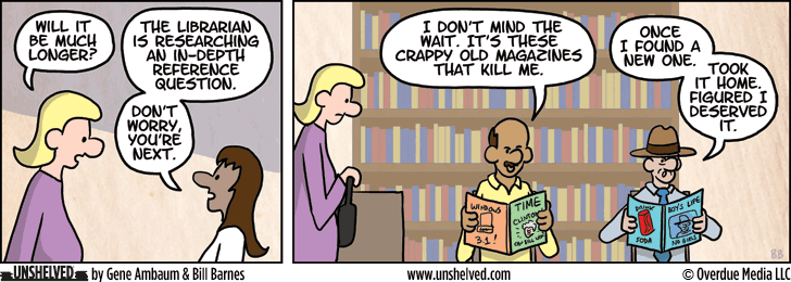 Unshelved comic strip for 2/24/2015