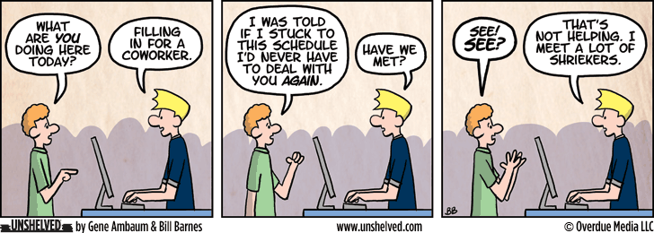 Unshelved comic strip for 3/10/2015