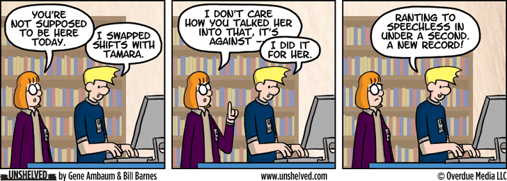 Unshelved comic strip for 3/11/2015