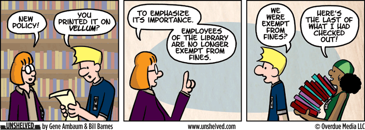 Unshelved comic strip for 3/16/2015
