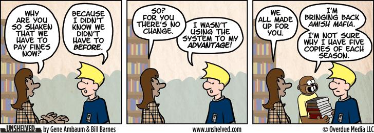 Unshelved comic strip for 3/17/2015