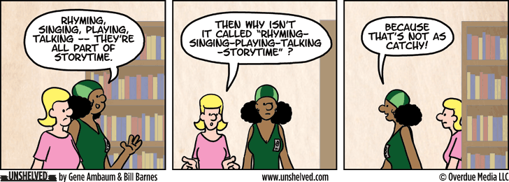 Unshelved comic strip for 4/1/2015