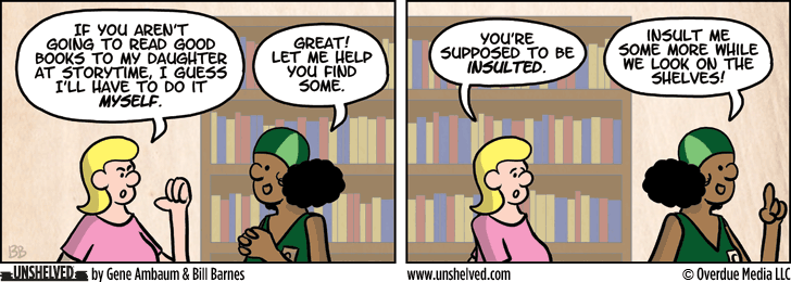Unshelved comic strip for 4/2/2015