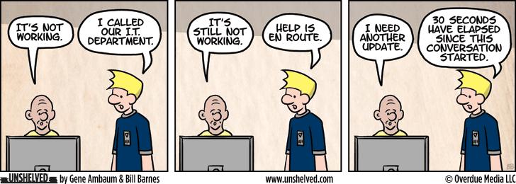 Unshelved comic strip for 4/6/2015
