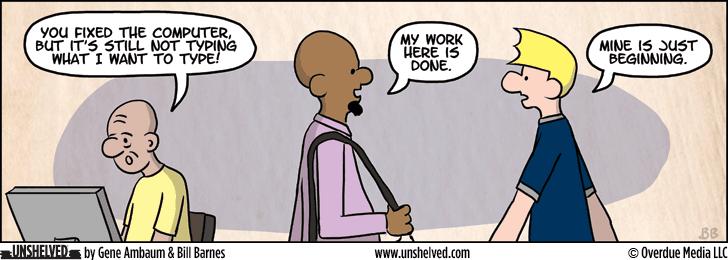 Unshelved comic strip for 4/9/2015