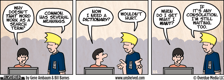 Unshelved comic strip for 4/30/2015