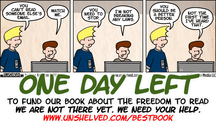 Unshelved comic strip for 5/12/2015