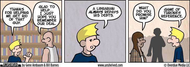 Unshelved comic strip for 5/14/2015