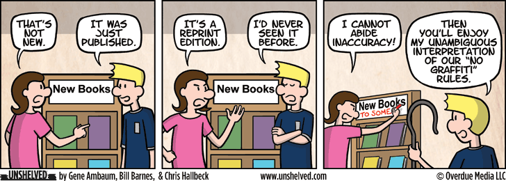 Unshelved comic strip for 6/8/2015