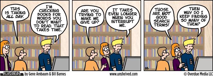Unshelved comic strip for 7/8/2015