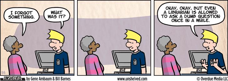 Unshelved comic strip for 7/20/2015