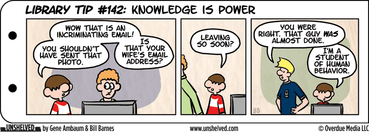 Unshelved comic strip for 8/12/2015