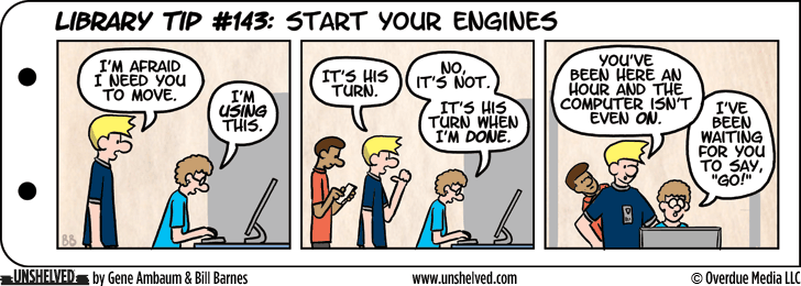 Unshelved comic strip for 8/13/2015