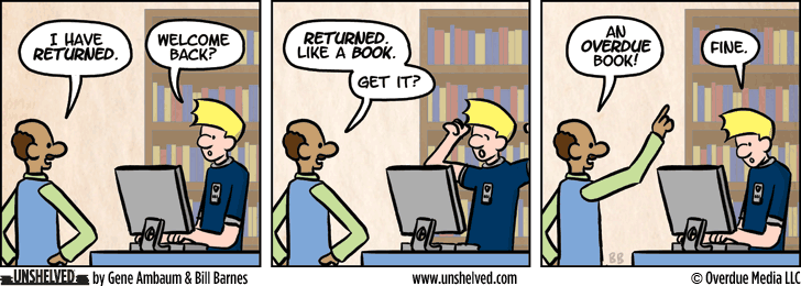 Unshelved comic strip for 8/18/2015